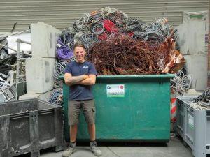 Het team van de Visser Metaal recycling - Dion Bouman