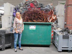 Het team van de Visser Metaal recycling - Esther de Visser