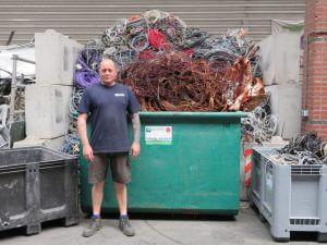 Het team van de Visser Metaal recycling - Hans de Visser