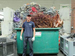 Het team van de Visser Metaal recycling - Jesse Bouman