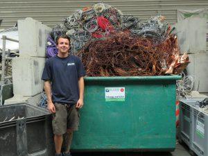 Het team van de Visser Metaal recycling - Jessey de Visser