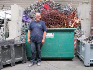 Het team van de Visser Metaal recycling - Marco Scherpenisse