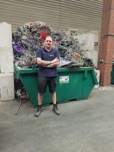 Het team van de Visser Metaal recycling - Michael de Visser