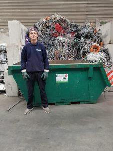 Het team van de Visser Metaal recycling - Mikey Witte