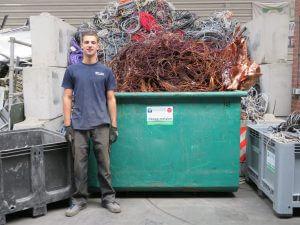 Het team van de Visser Metaal recycling - Rick Kleinjan