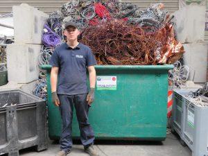 Het team van de Visser Metaal recycling - Tim Bruinse