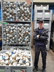 Het team van de Visser Metaal recycling - Ricky Bakker